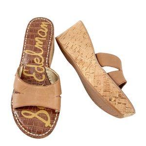 Sam Edelman Reid Cork Wedge Slide On Sandals